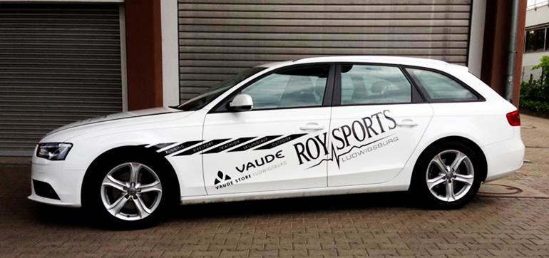 Fahrzeugbeschriftung – Roy Sports