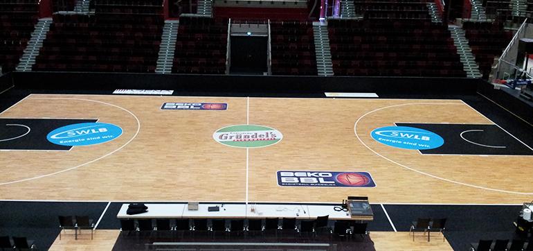 Fußbodenbeklebung – MHP Arena Ludwigsburg