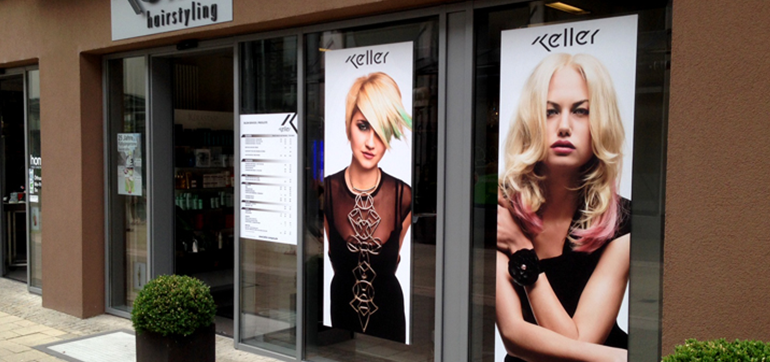 Keller Hair-Company – Schaufensterbeklebung