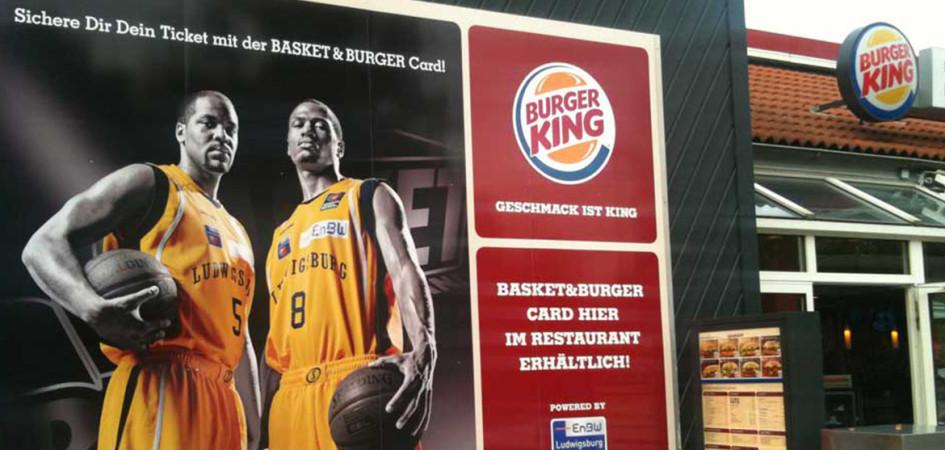 Burger-King-Fensterbeschriftung