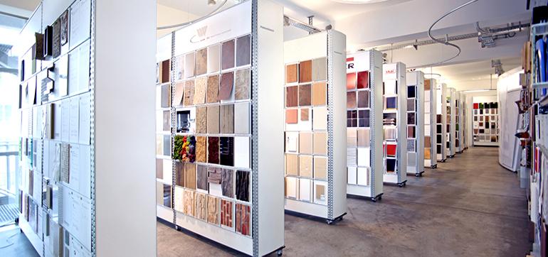 Materialausstellung bei raumPROBE