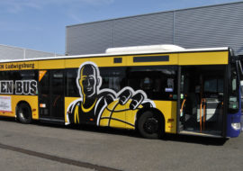 Busbeschriftung in Ludwigsburg